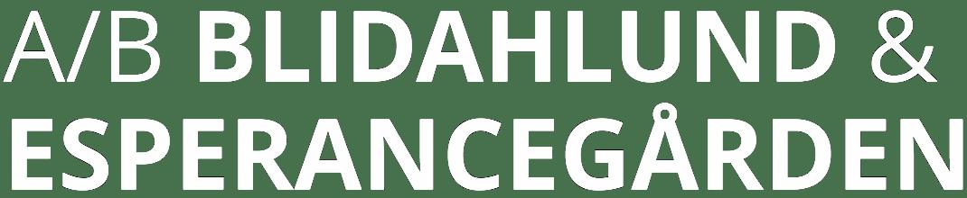 A/B Blidahlund & esperancegården logo